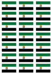 Extremadura Flag Stickers - 21 per sheet